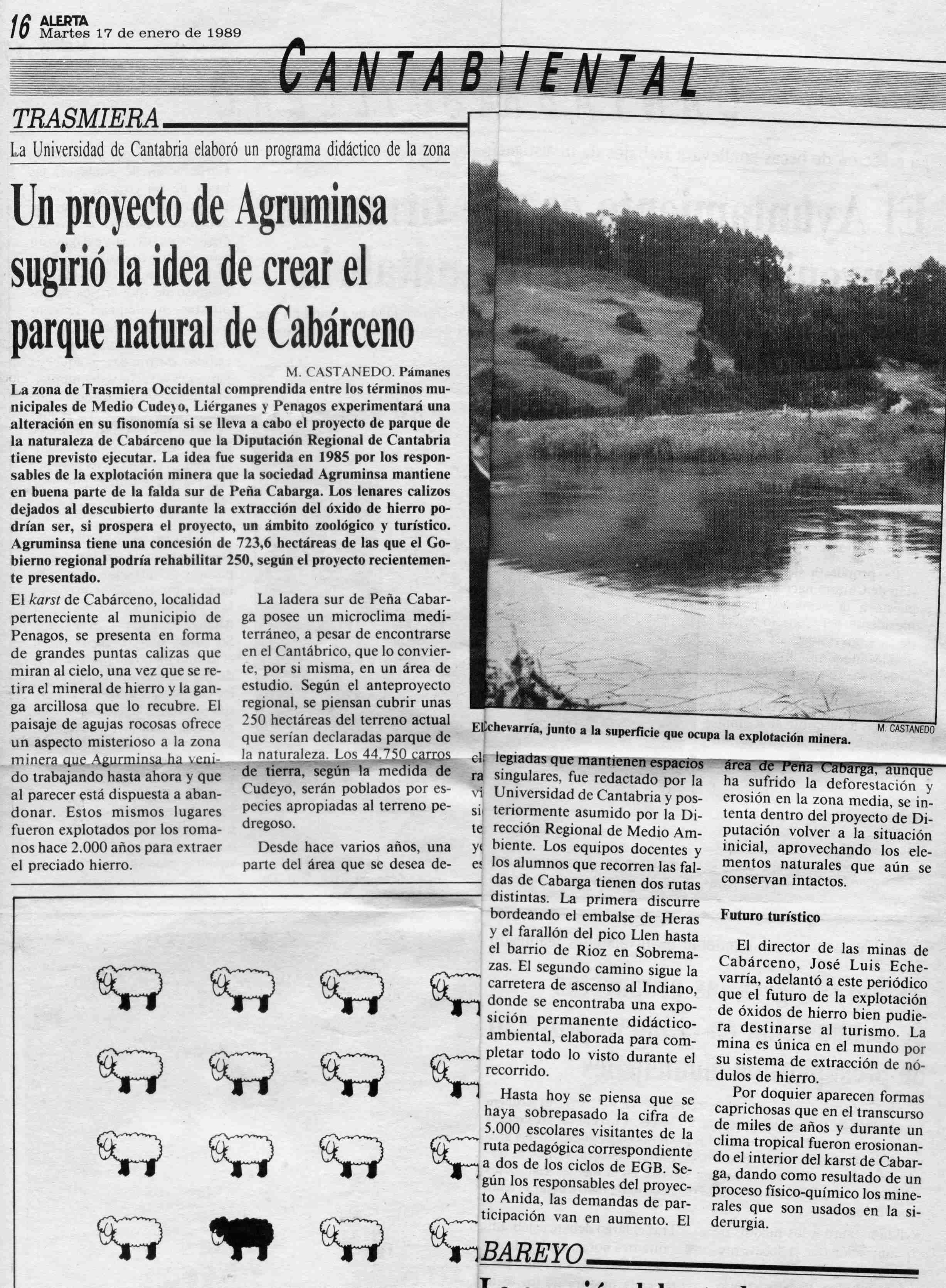 A los 25 años del Parque de Cabárceno: Un proyecto de los ingenieros de Agruminsa permitió eludir a la empresa la restauración ambiental exigida por la Ley de Minas ante el inminente fin de la concesión